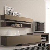 Meuble TV design taupe Neva ATYLIA Editions