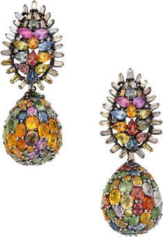 Unique Vague Rainbow Crystal Yellow Gold Filled Womens Big Hoop Boucles d/'oreilles Bijoux