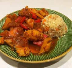 """Sweet 'n' Sour """"chicken"""" with vegetables - Opti Cook"""