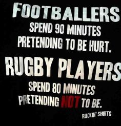 compare and contrast football and rugby