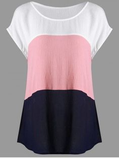 Shop for COLORMIX 5XL Plus Size Crinkle Cap Sleeve Blouse online at $15.68 and discover fashion at RoseGal.com