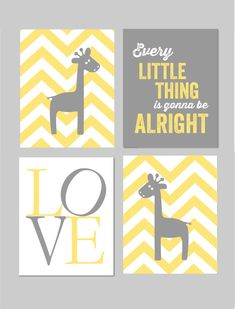 Yellow and Gray Nursery Bob Marley Every Little by karimachal, $40.00
