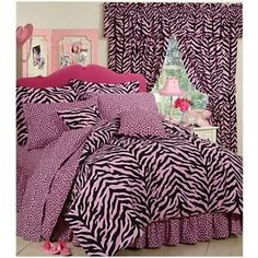 Zebra Pink Bedding Collection Comforter Set - XL Twin
