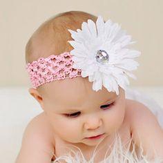 Pink Baby Headband Big Fluffy Daisy Flower by BabysFirstKeepsake, $4.99
