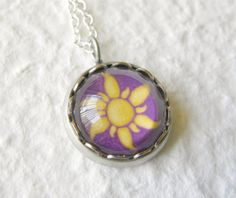 Rapunzel's Sun Petite Disney Necklace - Inspired by Disney's Tangled on Etsy, $15.00