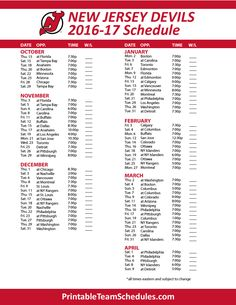 New Jersey Devils Hockey Schedule 2016- 2017 Print Here - http://printableteamschedules.com/NHL/newjerseydevilsschedule.php