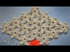 Безотрывное вязание крючком цветочных мотивов. Unseparated crochet. - YouTube
