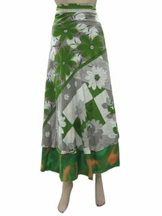 Amazon.com: Wrapskirt Silk Sari Long Skirt Beach Sarong Wrap Around Skirts: Clothing