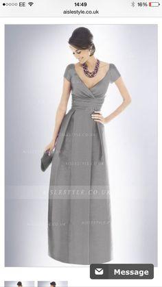 f1fe6a4c89c V-neck Empire Satin Floor-length Short Sleeves Bridesmaid Dresses