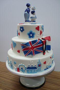 London cake for 18th birthday~Tera