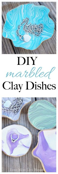 Thinking about DIY gift ideas for the holidays this year? This super easy DIY present is cheap and you can make it in less than one hour. The DIY marbled clay dishes turn out so cute you'll want to make several for yourself too. I know I did!   Christmas DIY gifts   Friend gifts   DIY clay dishes