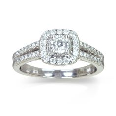 Rachael Real Sterling Silver Cubic Zirconia Cluster Ring Get up to