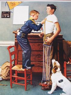 Norman Rockwell, 1885 Physically Strong on ArtStack #norman-rockwell-1894-1978 #art