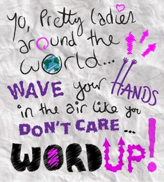 Day 14 - Some typography doodling. The lyrics are from 'Cameo - Word Up!' Haha, I was listening to 80s tunes!
