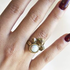 The Opal Cluster Ring just arrived! Find it at www.mooreaseal.com
