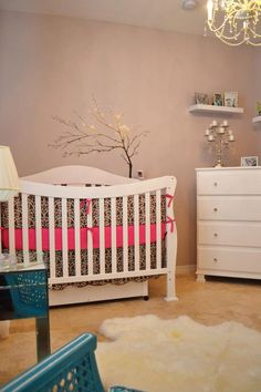 Elegant Glam Baby Nursery - walls and furniture NOT bedding