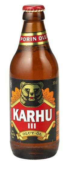 Finnish beer. Karhu means bear.