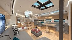 Saloon of the beautiful Amel 50 sailing yacht. Sailboat Interior, Yacht Interior, Amel Yachts, Truck House, Sail World, Yacht Builders, Yacht Design, Yacht Club, Back To The Future