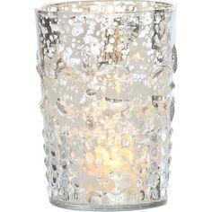 7931de4b6b13 Silver Mercury Glass Votives Wholesale (flower motif)  3.95 for 1 Gold  Candles