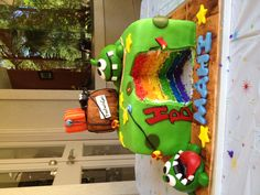 Cut the rope Rainbow cake