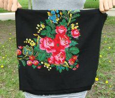 Vintage Ukrainian shawl Russian shawl Wool от 888VintageShoppe