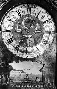 The 'Haunted' Grandfather Clock in County Offaly, Ireland, photo from the Marsden Archive
