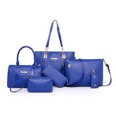 ade70d5703 Luxury Ladies 6 Pcs set Handbag. Intuitive Fashions. Women Shoulder  Crossbody Bag Female Purse ...