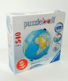 Taj mahal 3d jigsaw puzzle model 87 pieces new sealed ravensburger the earth globe puzzleball 540 pieces world map puzzle ball ebay gumiabroncs Choice Image