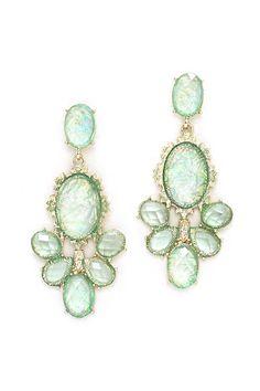 Kimmie Chandelier Earrings in Sage Opalescence