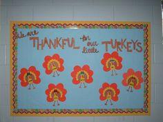 Thanksgiving Bulletin Boards for Kindergarten Toddler Bulletin Boards, November Bulletin Boards, Preschool Bulletin Boards, Classroom Bulletin Boards, Classroom Crafts, Classroom Ideas, Bullentin Boards, Thanksgiving Classroom Door, Thanksgiving Bulletin Boards