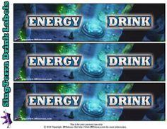 Slugterra printable Energy Drink Labels ~ Free Slugterra Party Printables, and Crafts | SKGaleana #Slugterra
