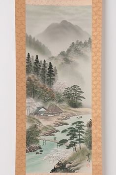 Check out Japanese hanging scroll Landscape painting on silk Antique wall art hs0645  http://www.ebay.com/itm/Japanese-hanging-scroll-Landscape-painting-on-silk-Antique-wall-art-hs0645-/122008564864?roken=cUgayN&soutkn=yOOqAm