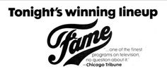 Fame TV Series 1982 TV Guide Adverts season 1, debbie Allen, lee curreri, erica gimpel, gene anthony ray, lori singer