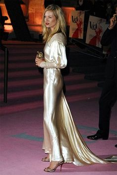Kate Moss in vintage Christian Dior  (2007)