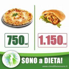 Anche se siamo a dieta a volte, sopratutto nel week end, capita di toglierci qualche sfizio magari mangiando fuori con gli amici. Ma in questo caso è meglio ordinare una pizza o un kebab? Ecco il confronto!
