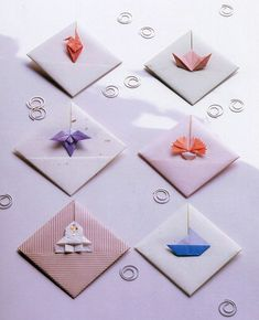 Simply click the link for more Step by Step Origami Origami Cards, Origami Mouse, Origami Star Box, Origami Envelope, Origami And Kirigami, Origami Fish, Paper Crafts Origami, Paper Crafting, Origami Tutorial