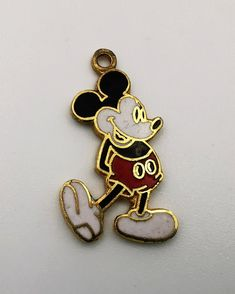 Mickey Mouse Vintage Metal Bracelet Charm Walt Disney Productions Cloisonne Style NEW old stock by VintageToysForAll on Etsy Kids Jewelry, Unique Jewelry, Disney Charms, Star Cards, Vintage Mickey Mouse, Little Twin Stars, Metal Bracelets, Vintage Metal, Vintage Children