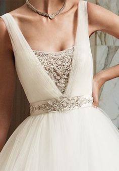 Dreamy Whites - beading! look at that belt!
