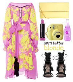 """""""Combustion!"""" by sherieme ❤ liked on Polyvore featuring Yuliya Magdych, Zimmermann, COVERGIRL, Fujifilm, modaoperandi and purpleandyellow"""