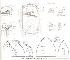 Moldes e PAP (DIY) de bolsinhas de coruja