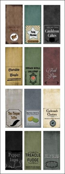 Free Harry Potter Candy Labels (12) Printables #Halloween