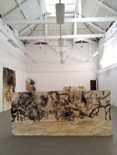 drawing installation, National Art School, 2012