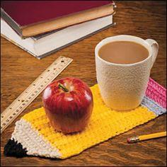 Ravelry: Pencil Mug Rug pattern by Kathleen Stuart