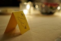 Reception meal marker. Great idea! Simple meal marker for wedding reception dinner.