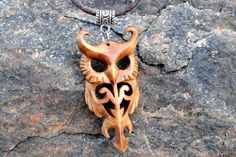 Wooden owl pendant (Updated version) by JOVictory.deviantart.com on @DeviantArt