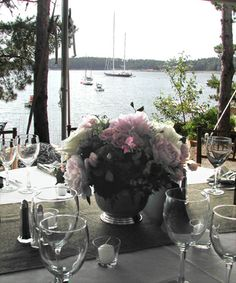 Centerpiece ~ Northeast Harbor wedding