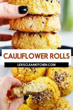 Lexi's Clean Kitchen | 'Everything Bagel' Cauliflower Rolls