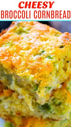 meat food Cheesy Broccoli Cornbread is a great way to sneak extra veggies into a meal. Broccoli and cheese taste so good together and with 1 cups of shredded cheddar cheese, this recipe Broccoli Cornbread, Cornbread Casserole, Casserole Recipes, Cornbread Recipes, Cheesey Broccoli, Cheesy Cornbread, Jiffy Cornbread, Broccoli Casserole, Chicken Broccoli