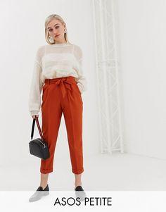 0a2983d42 DESIGN Petite woven peg pants with obi tie