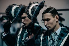Backstage at the Thom Browne Fall 2016 Men's Wear Collection - -Wmag